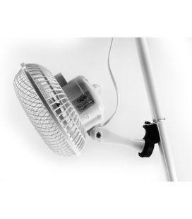 3 in 1-Set: 18cm Ventilator mit Standfuß, Clip-Fuß und Polehanger für Zeltstangen