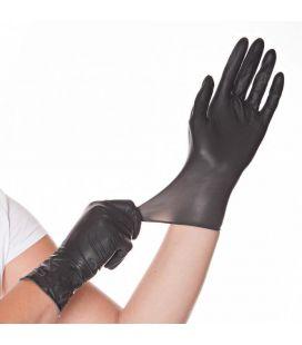 Latex Handschuhe (schwarz, 100 St.) Größe S