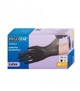 Latex Handschuhe (schwarz, 100 St.) Größe M