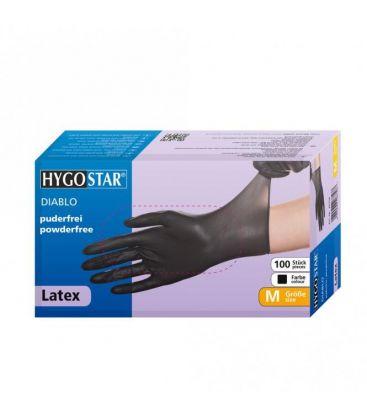 Latex Handschuhe (schwarz, 100 St.) Größe XL